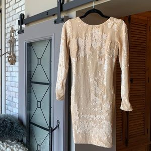 Dress the population dress sequins mini size small